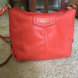 MEMORIAL SALE- Coach red-orange mini bag